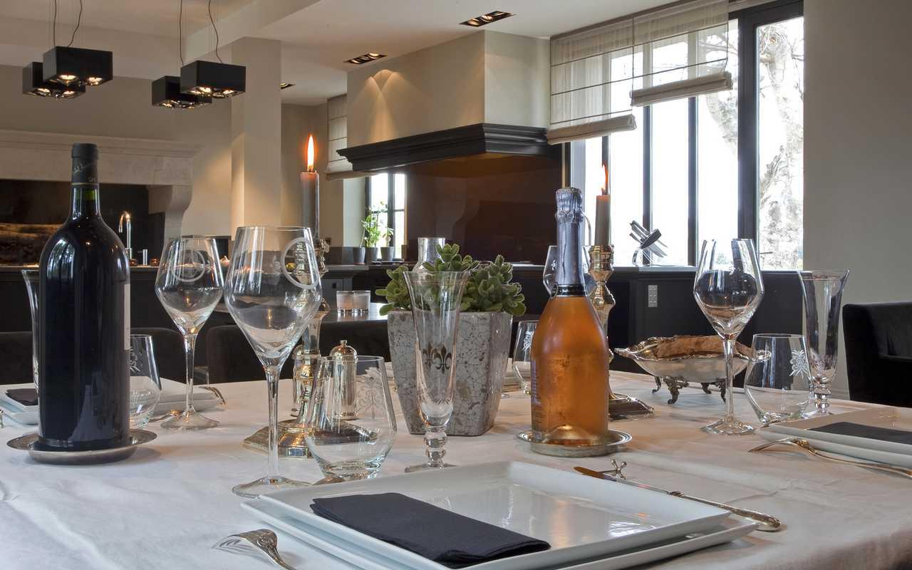 Table dressée Hotel 4 étoiles Aude